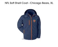 Chicago Bears Soft Shell jacket XL