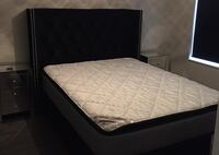 Black vellore bed