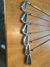 Maruman exim irons.  9-5 with 3 iron.  Rifle 6.0 stiff shafts.   Golf clubs Bakersfield, 93306