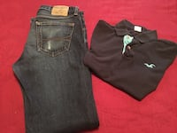 two black and gray denim jeans Brownsville, 78520