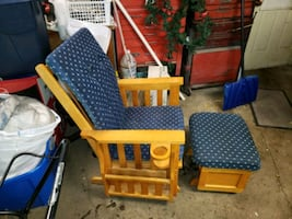 Gliding rocking chair and ottoman