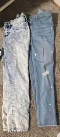 Girls size 10 jean's only worn once $10 both