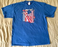 Frank Lloyd Wright Collection Design Blue T-Shirt American Flag Mens Sz Large L Tempe, 85281