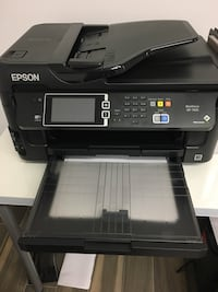 Epson WF7610 Printer, Can print wide format, copier, fax, scan and print. Used only a few times. One year old. Cash only. Vienna, 22031