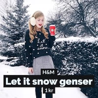 Let it snow genser Lysaker, 1366