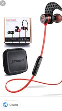 black and red bluetooth earpiece Burnaby, V5H 4W8