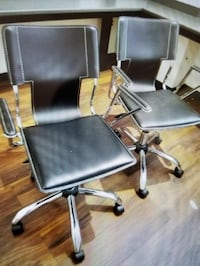black and gray rolling office chairs, 50 each Victoria, V9A 2P1