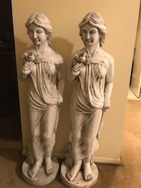 "Brand new 50"" tall set of 2 resin garden statues with flower check out my other items on this site message me if you interested gaithersburg md20877 Gaithersburg, 20877"