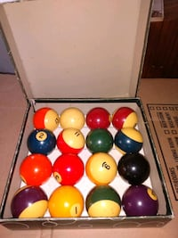 Billiard balls with box