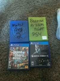 three assorted PS4 game cases Cheyenne, 82009