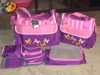 pink and purple floral bag Bakersfield, 93308
