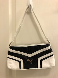 Puma Shoulder Bag, Black & White, $30