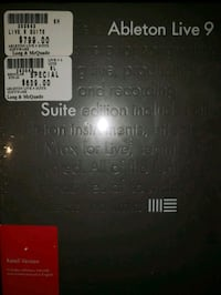 Ableton Live 9 Suite software brand new still in wrapper St. Catharines, L2S 3A9