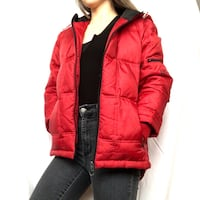 Dkny sport red puffer jacket