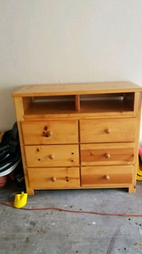 brown wooden 3-drawer chest Tampa