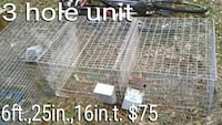 3 unit chicken cage