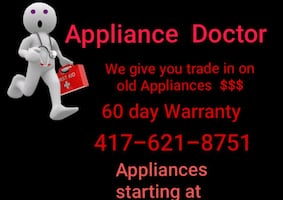 We also pay cash and haul off your used appliances
