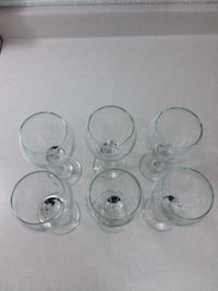6 wine glasses, see description plz Montréal, H4M 1S4