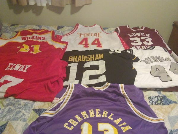 cheap for discount e84ed f9d07 Mitchell & Ness Throwback Jerseys
