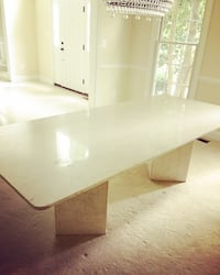 Custom Made Marble Dining Table Chantilly, 20151