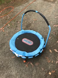round blue and black Little Tikes trampoline Hampton, 23661