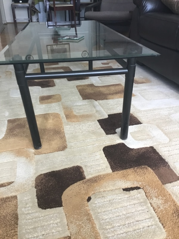 Large Glass Top Coffee Table 1