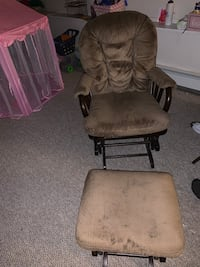 Glider chair and matching ottoman