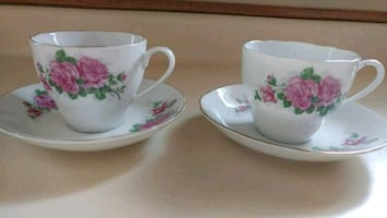 Matching tea cups