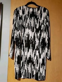 black and white Michael kors party dress