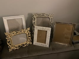 Collection of Vintage White and Gold Frames