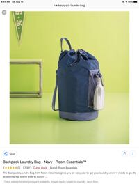 Backpack Laundry Bags. Great for college students and laundromat use!