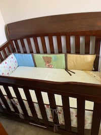 Wooden Crib/Toddler Bed