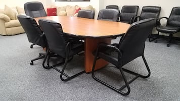 Wooden Conference Room Table - 8 ft (3 available)