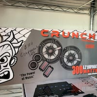 "Crunch 300 watts 6.5"" door speakers"