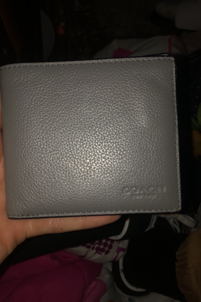 Photo Coach Mens Slim Billfold Gray Wallet