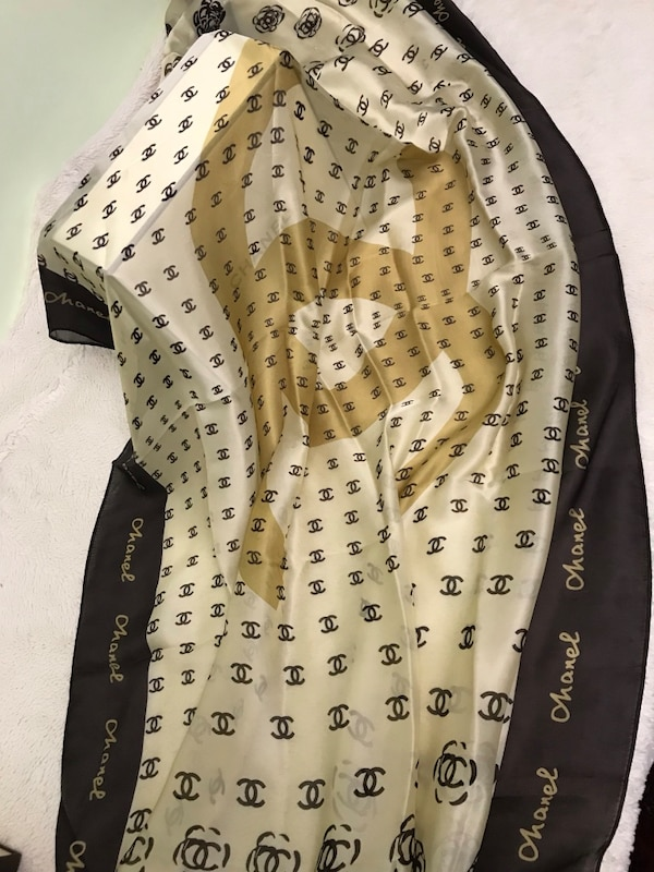 100% silk Chanel scarf made in Italy. Perfect for gift