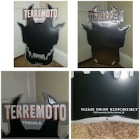 Terremoto Tequila Metal Signs Bundle  Washington, 20018