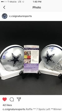 white and black Dallas Cowboys helmet Corona, 92880