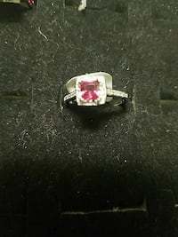 silver and pink gemstone ring Fort Lauderdale, 33304