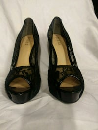 pair of black leather and lace high heels GUESS Whittier, 90604
