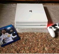 white Sony PS4 Slim with controller 128 mi