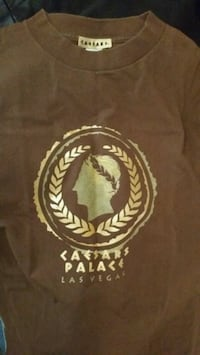 Ceasars Palace T-Shirt Large GOLD ACCENT! $15 OBO 294 mi