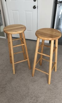 Set of 2 wood bar stool Mississauga, L5A 0A7
