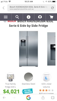 silver Samsung french door refrigerator screenshot Vancouver, V6H