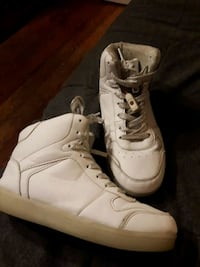 white light up shoes
