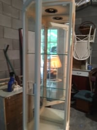Off white 6 foot tall (1 foot wide) Curio Cabinet Fairview