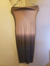 Sparkly ombre Strapless dress