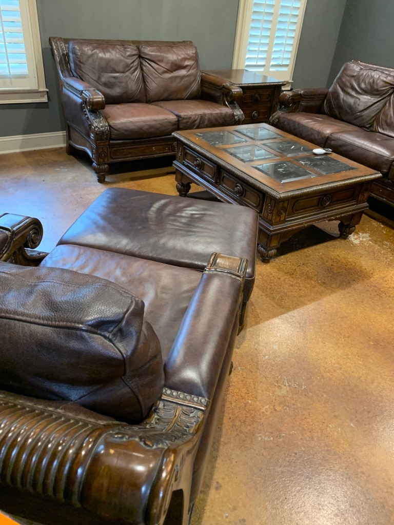 High Quality, Leather Couch, Loveseat, One End Table, One Coffee Table,  Chair And Ottoman