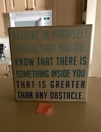 white wooden quote with brown frame Northglenn, 80233