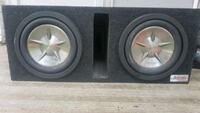 black and gray Kicker subwoofer speaker Edmonton, T5T 0C4